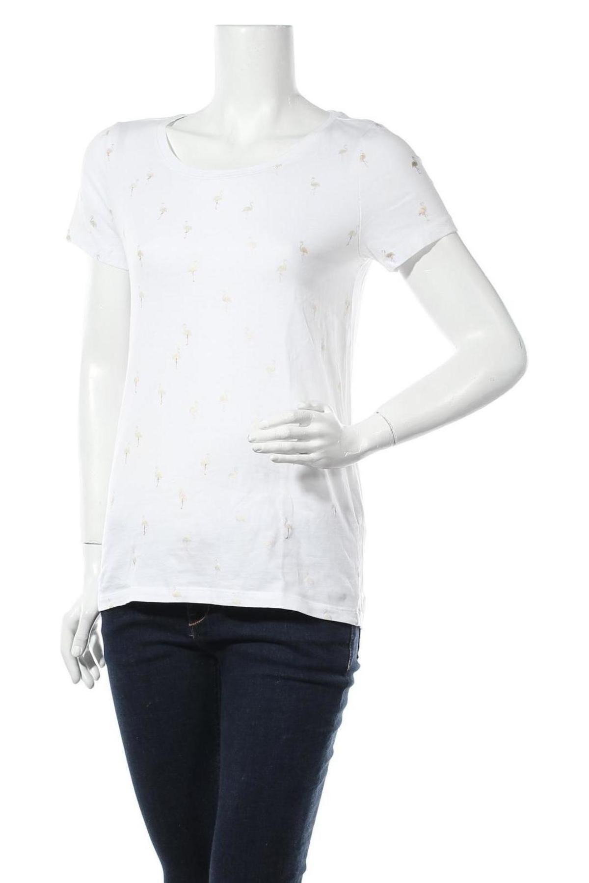 Дамска тениска ONLY, Размер S, Цвят Бял, Памук, Цена 22,00лв.