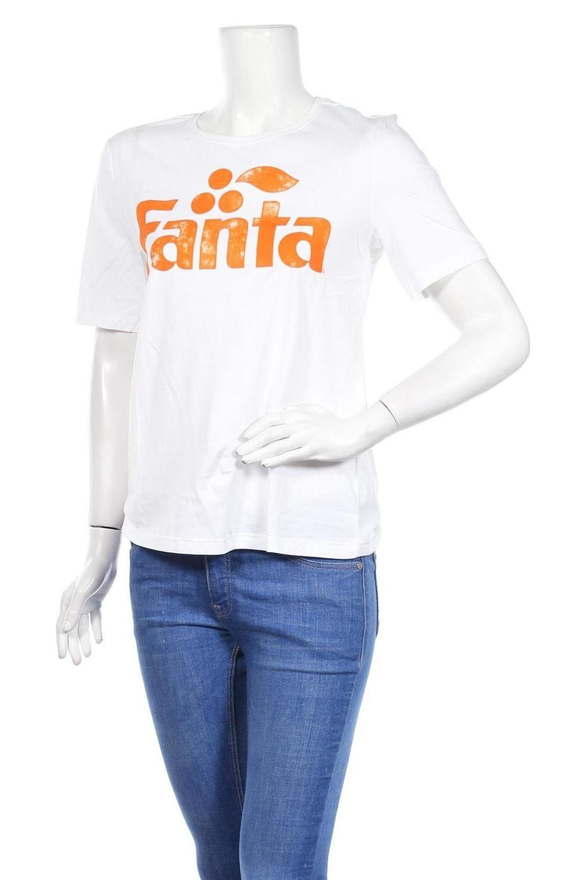 Дамска тениска ONLY, Размер S, Цвят Бял, Памук, Цена 10,80лв.