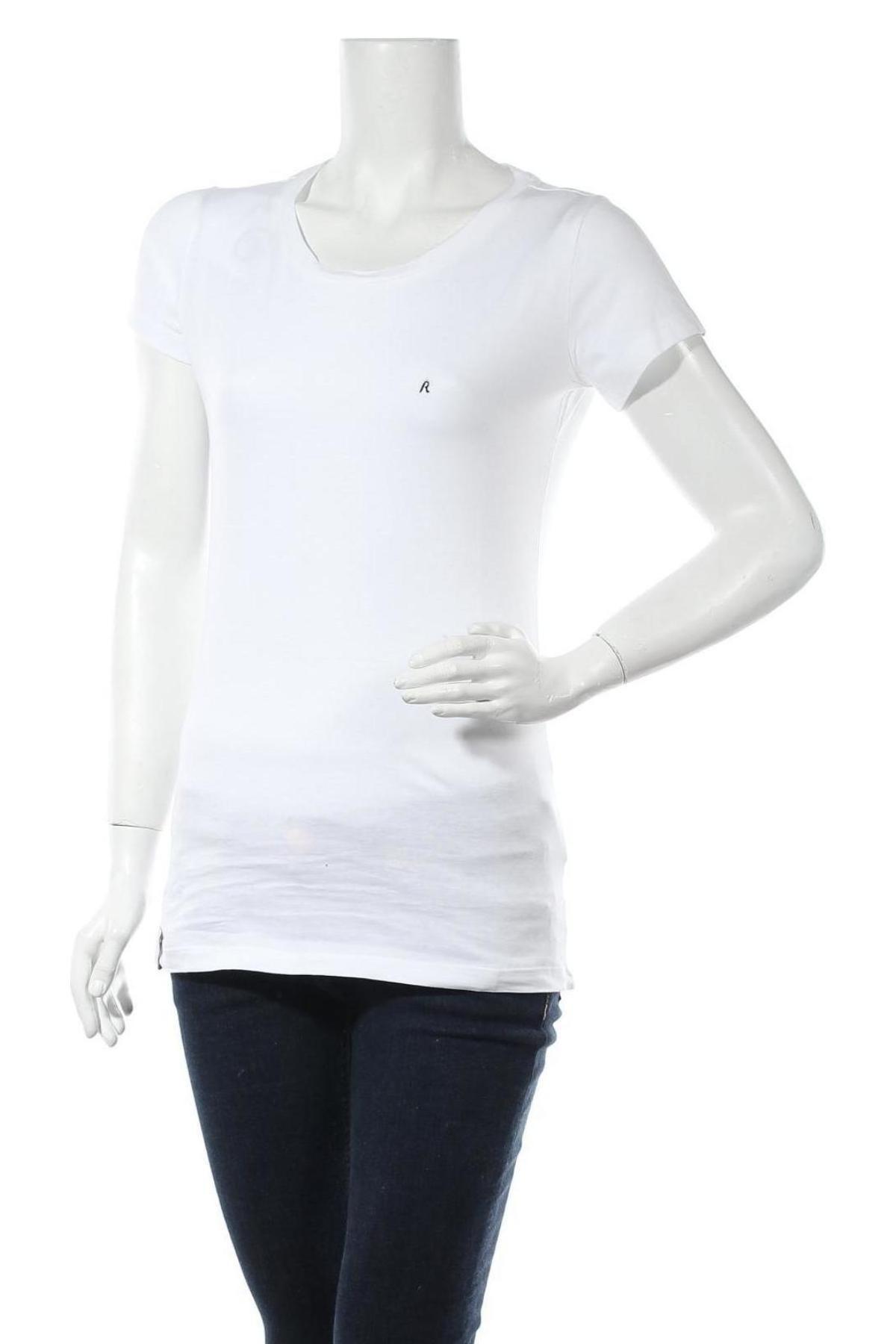 Дамска тениска Replay, Размер M, Цвят Бял, Памук, Цена 55,20лв.