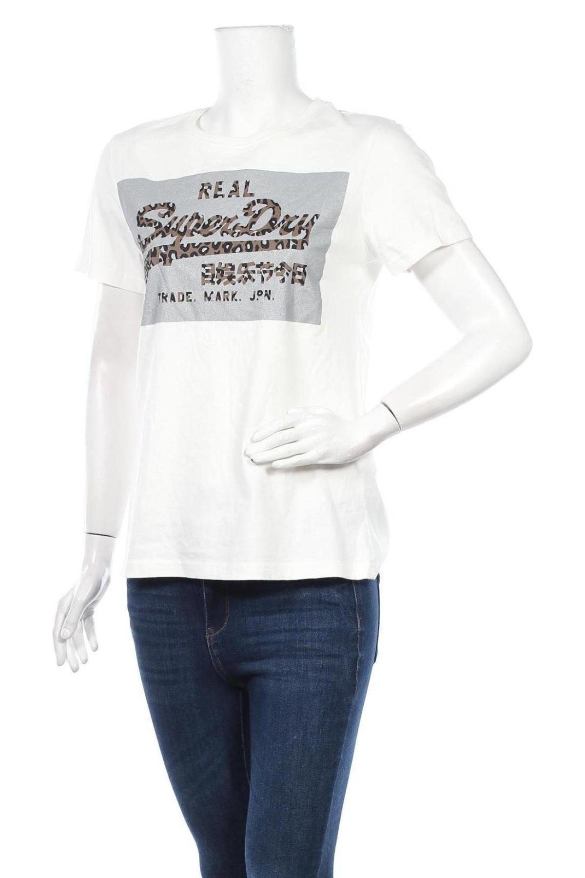 Дамска тениска Superdry, Размер M, Цвят Бял, Памук, Цена 53,04лв.