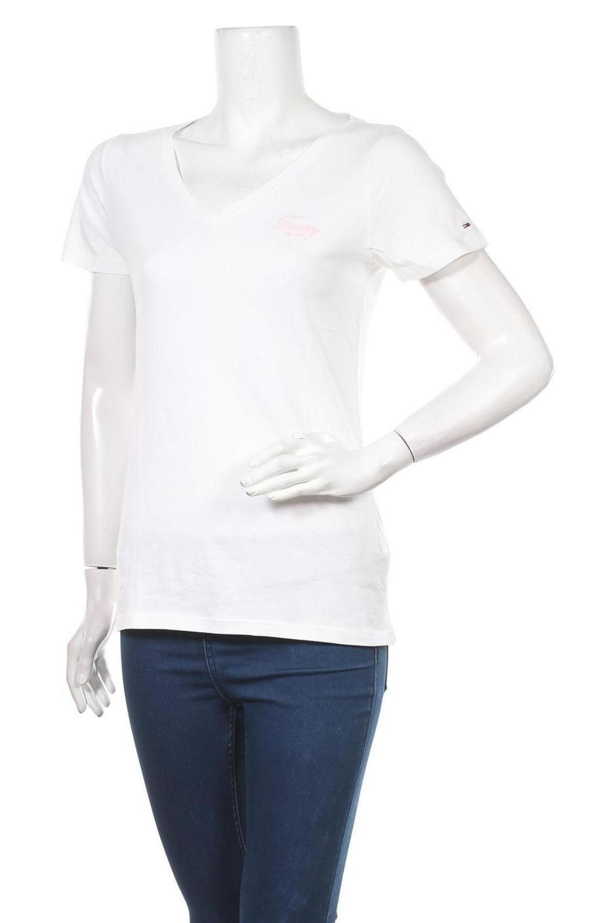 Дамска тениска Tommy Hilfiger, Размер S, Цвят Бял, Памук, Цена 53,04лв.