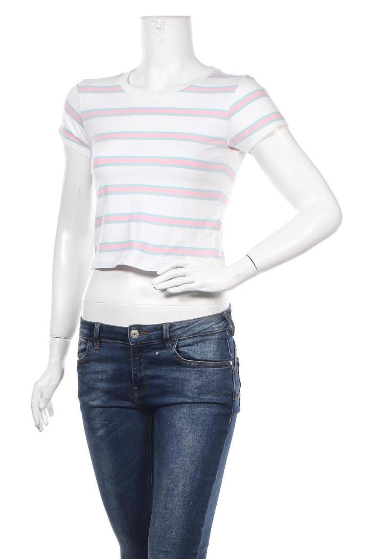 Дамска тениска Urban Classics, Размер S, Цвят Бял, 95% памук, 5% еластан, Цена 21,75лв.
