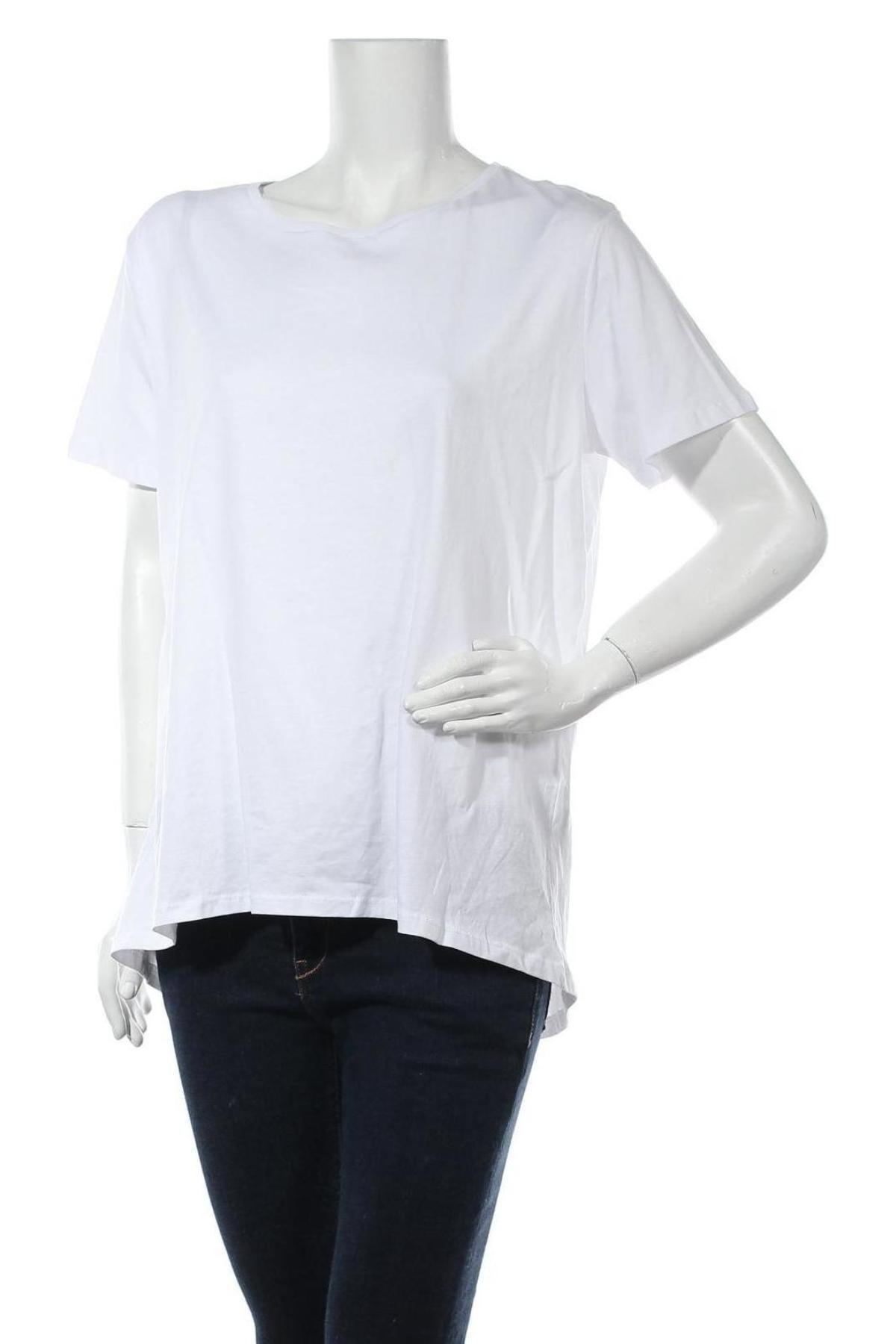 Дамска тениска Zara, Размер L, Цвят Бял, Памук, Цена 23,20лв.