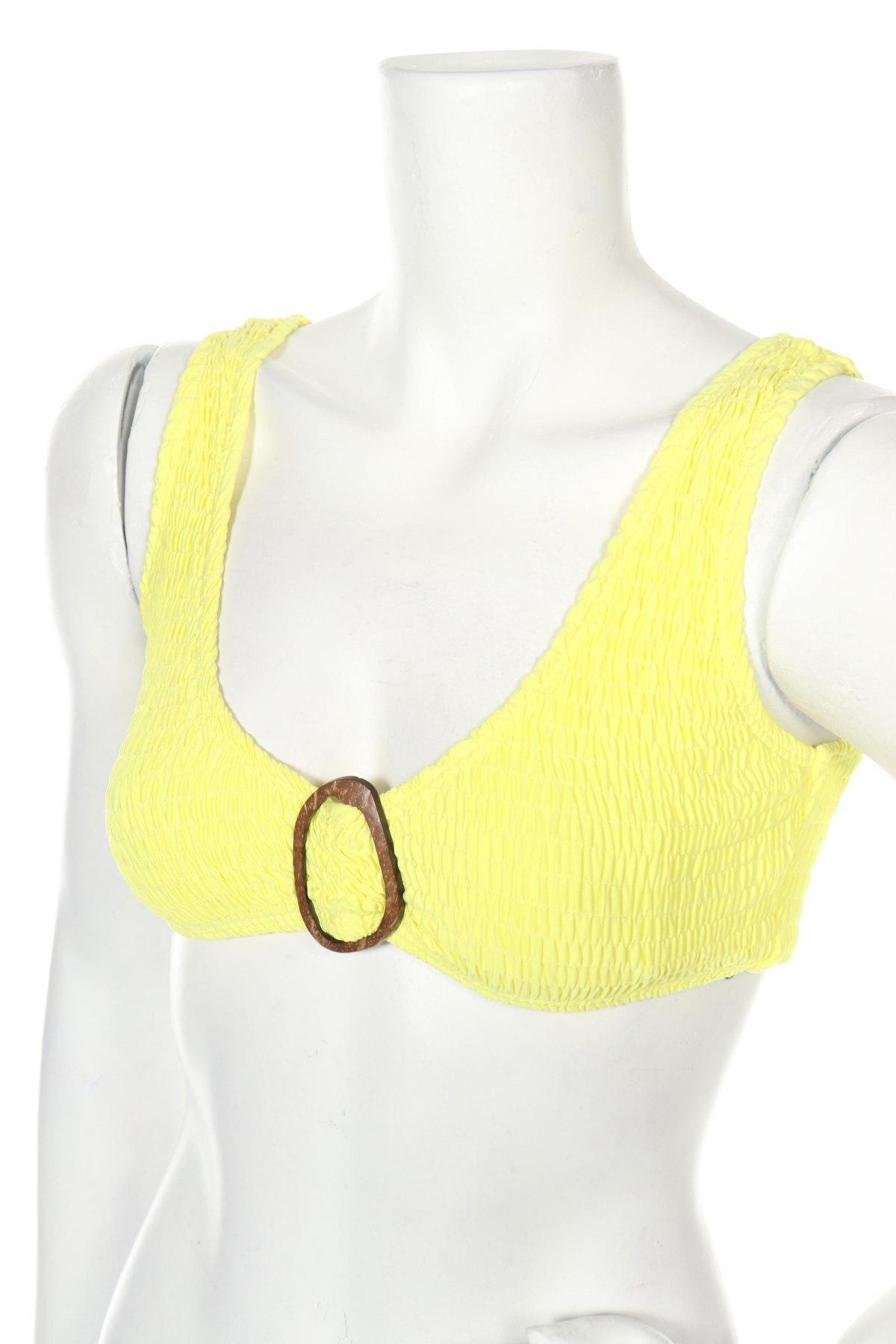 Дамски бански Missguided, Размер S, Цвят Жълт, 93% полиестер, 7% еластан, Цена 24,00лв.