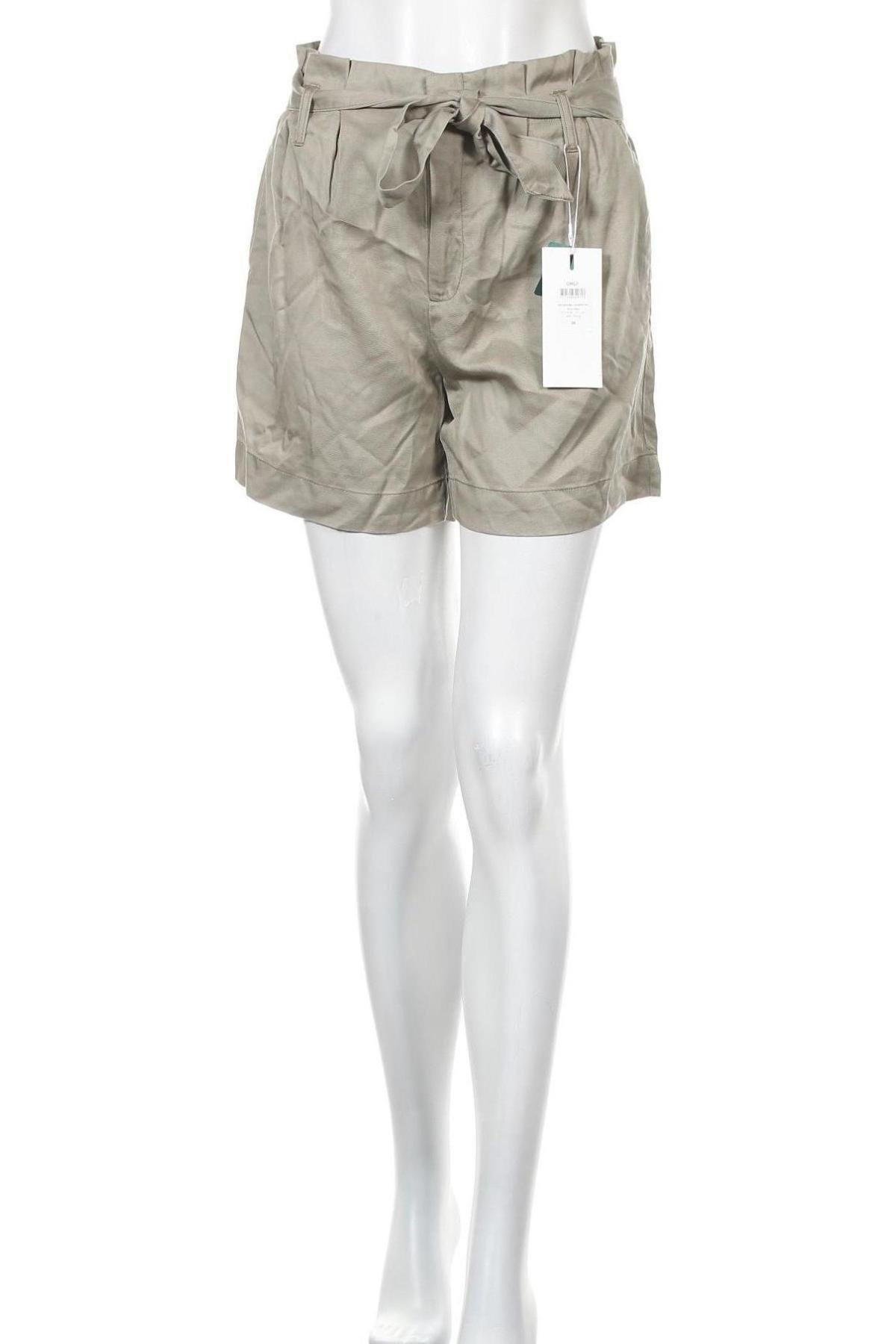 Γυναικείο κοντό παντελόνι ONLY, Μέγεθος S, Χρώμα Πράσινο, Lyocell, Τιμή 12,53€