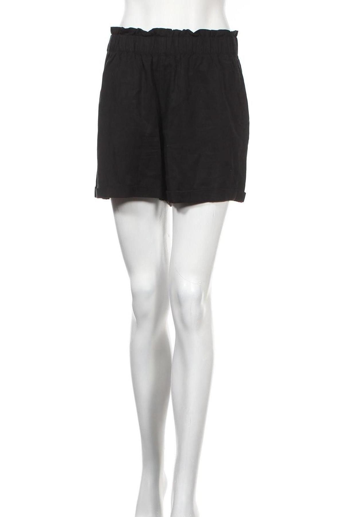 Γυναικείο κοντό παντελόνι Tom Tailor, Μέγεθος S, Χρώμα Μαύρο, Lyocell, Τιμή 14,60€