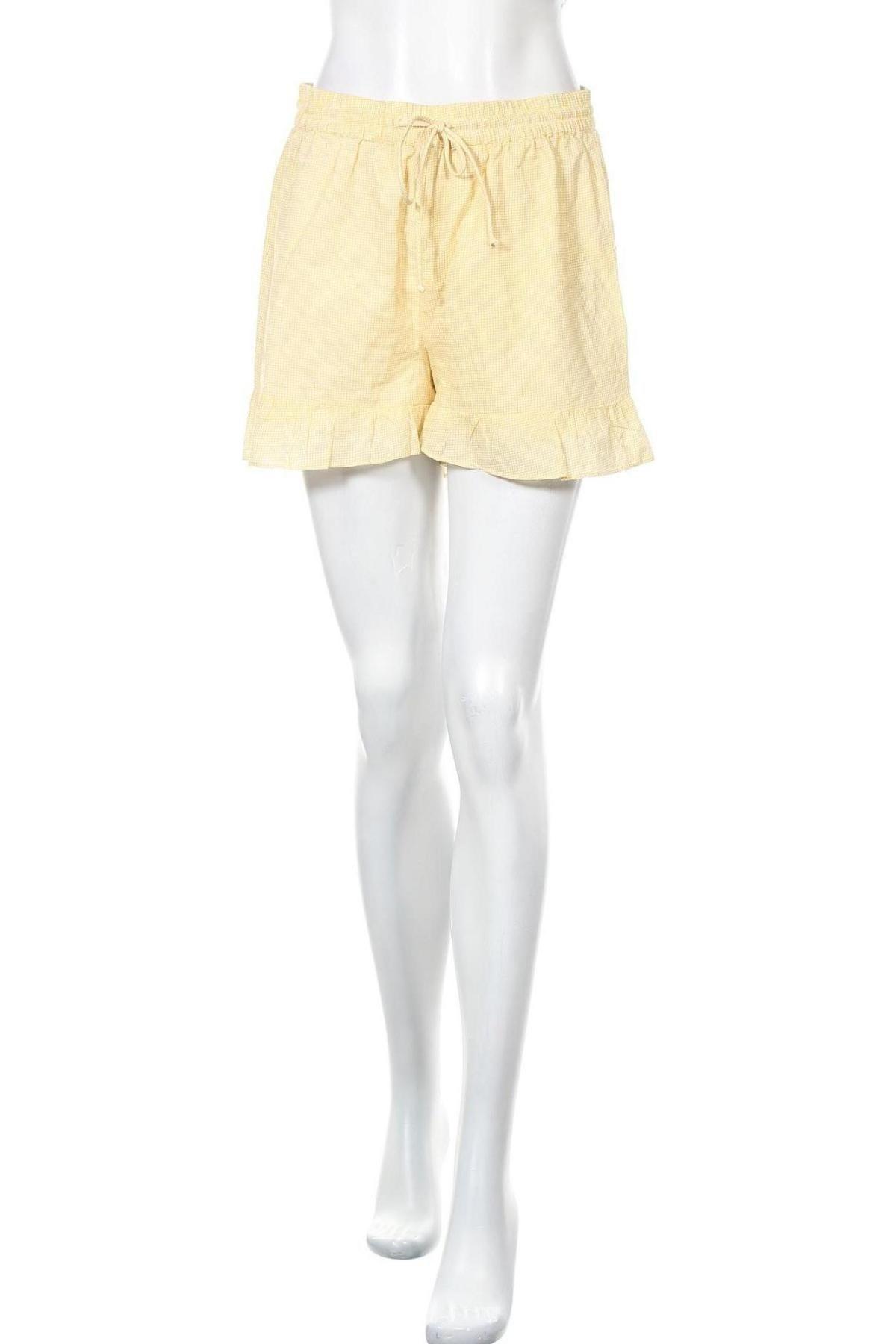 Γυναικείο κοντό παντελόνι Vero Moda, Μέγεθος M, Χρώμα Κίτρινο, Βαμβάκι, Τιμή 10,83€