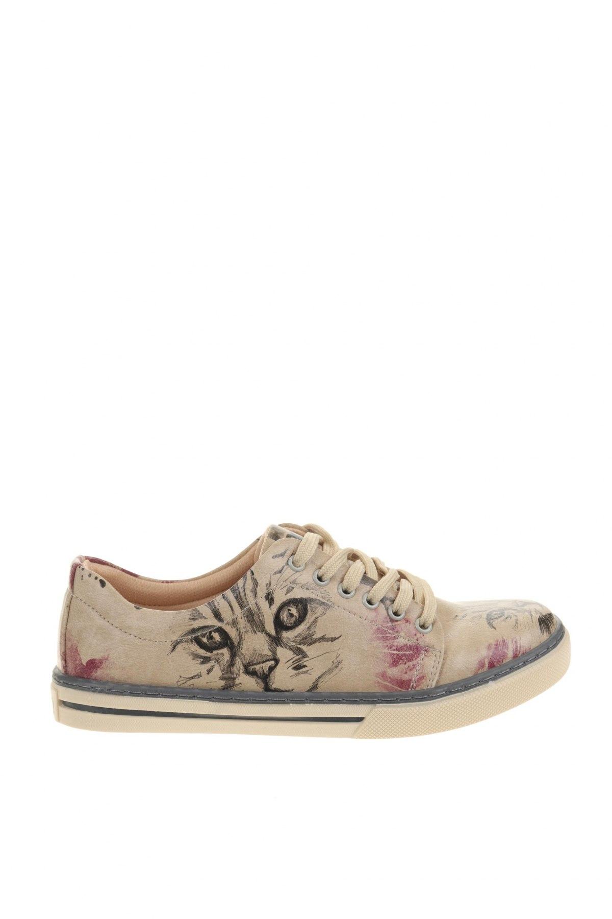 Γυναικεία παπούτσια Dogo, Μέγεθος 36, Χρώμα  Μπέζ, Δερματίνη, Τιμή 34,41€