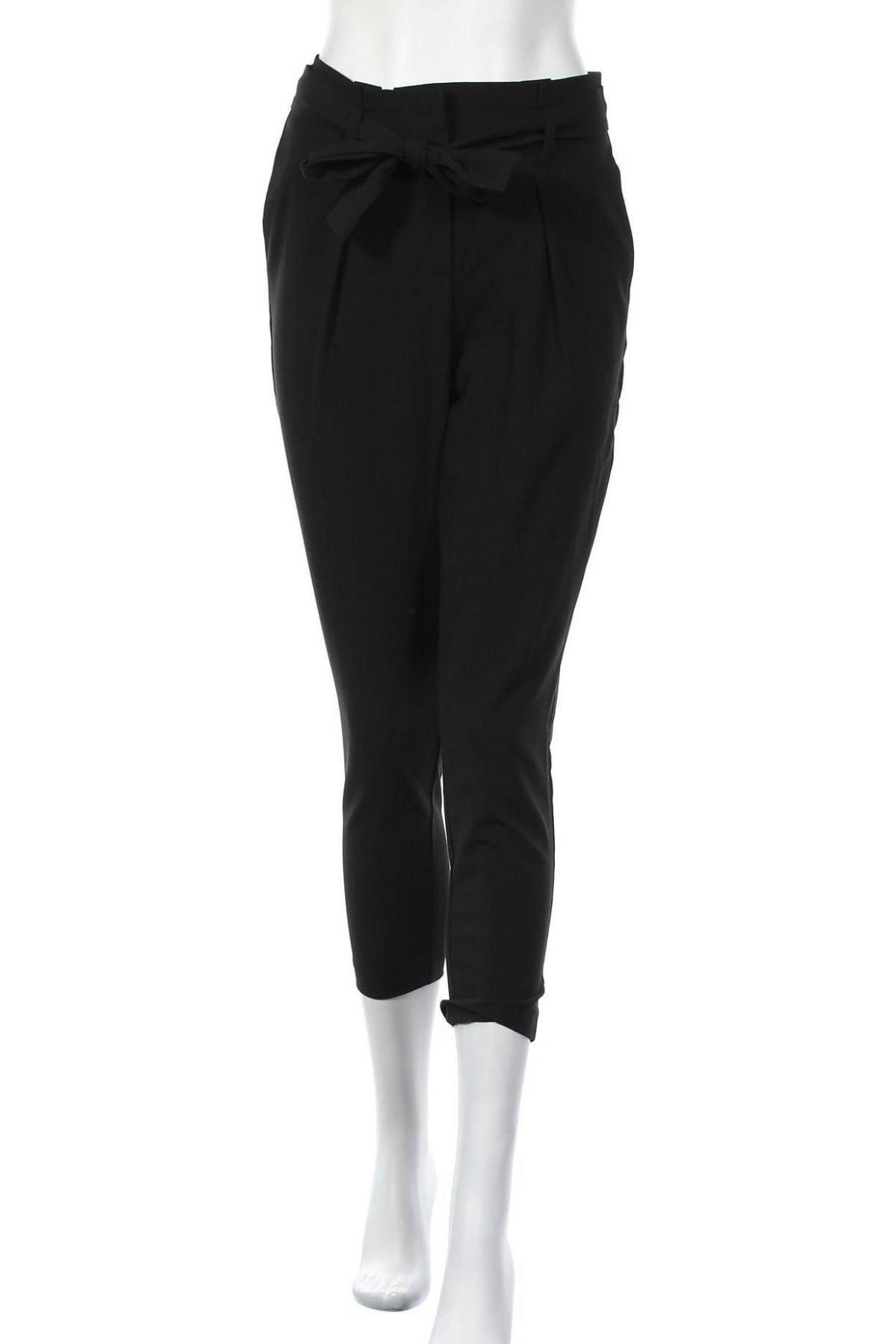 Дамски панталон ONLY, Размер S, Цвят Черен, 62% полиестер, 33% вискоза, 5% еластан, Цена 42,00лв.