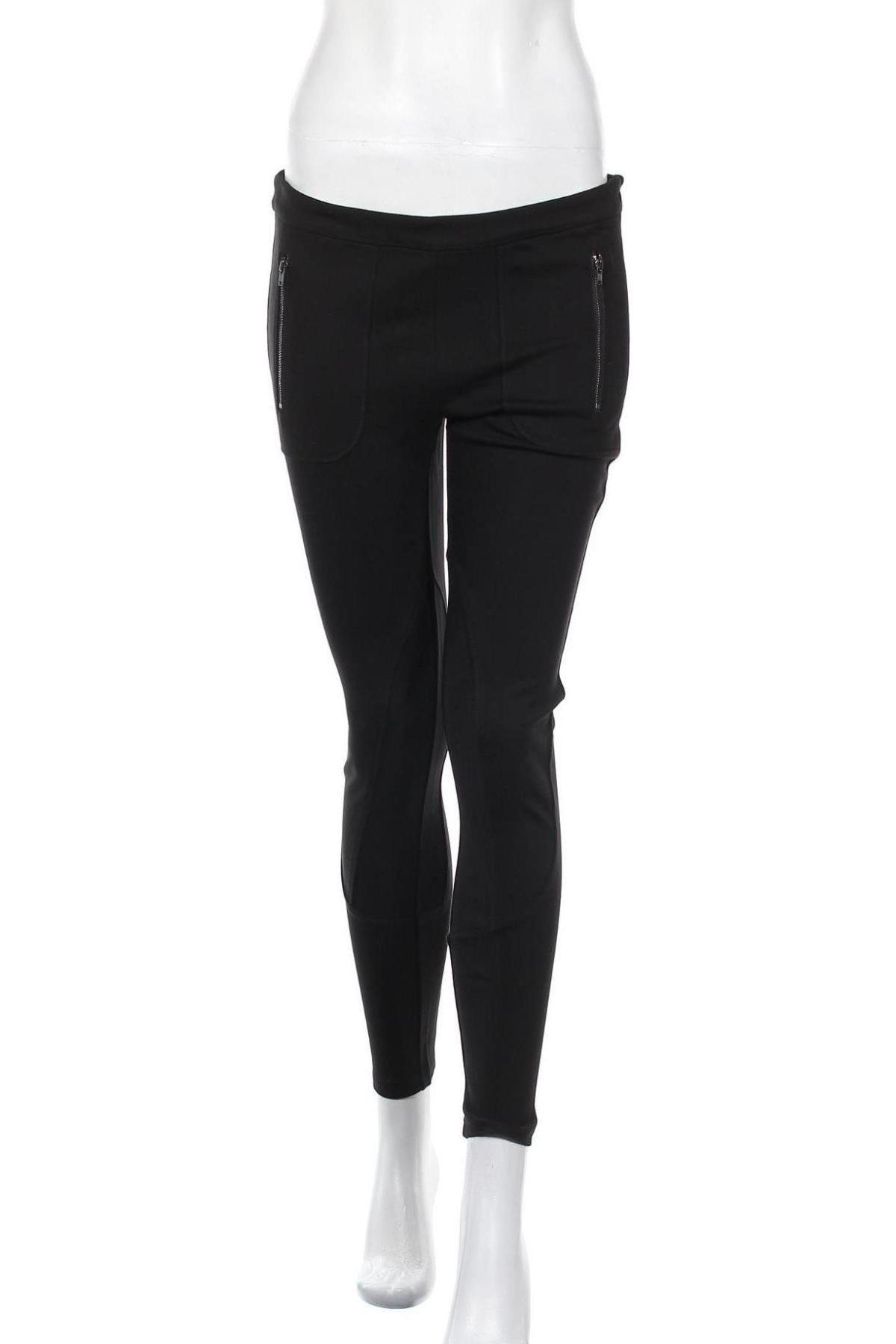 Дамски панталон Stefanel, Размер M, Цвят Черен, 68% вискоза, 27% полиамид, 5% еластан, Цена 29,90лв.