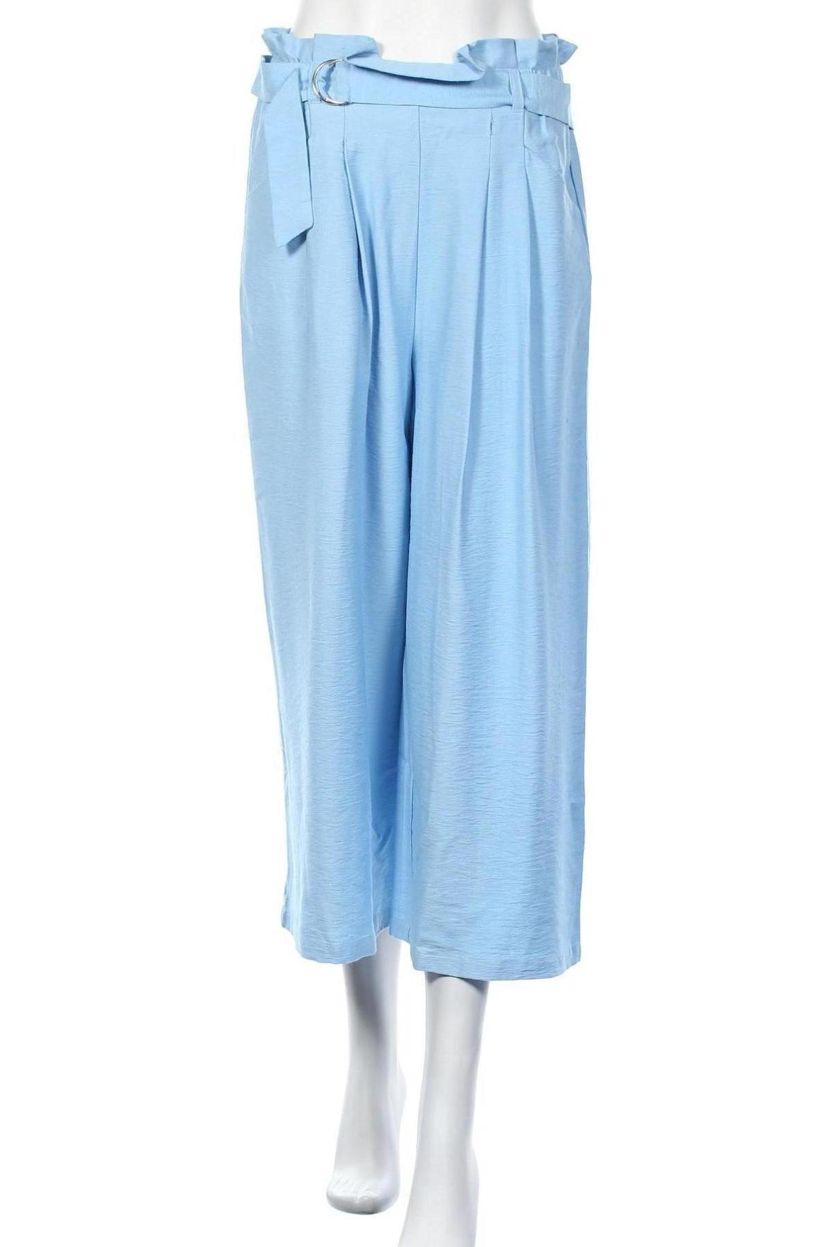 Дамски панталон Vero Moda, Размер M, Цвят Син, 88% вискоза, 12% полиамид, Цена 23,20лв.