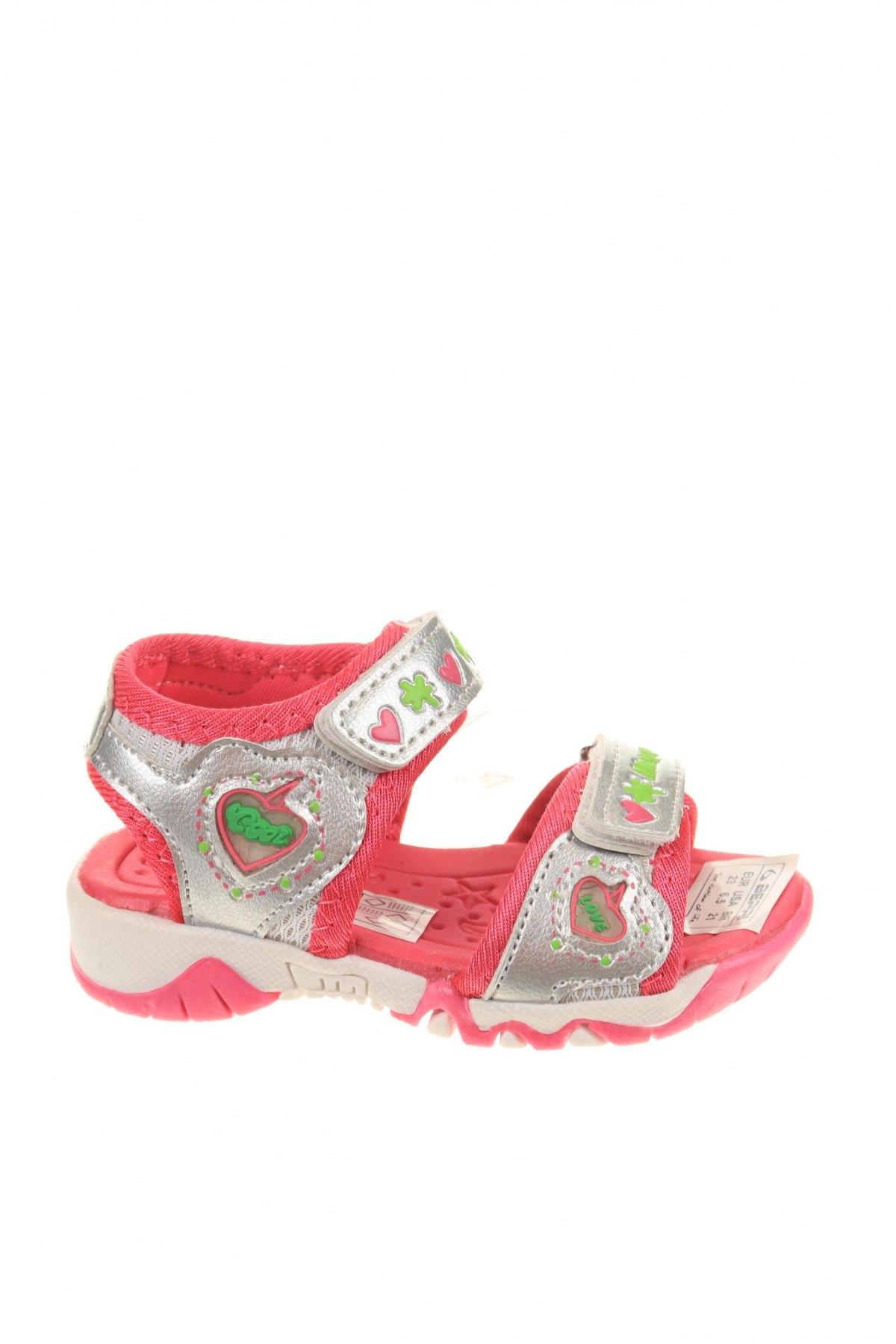 Παιδικά σανδάλια Beppi, Μέγεθος 23, Χρώμα Γκρί, Δερματίνη, κλωστοϋφαντουργικά προϊόντα, Τιμή 10,65€