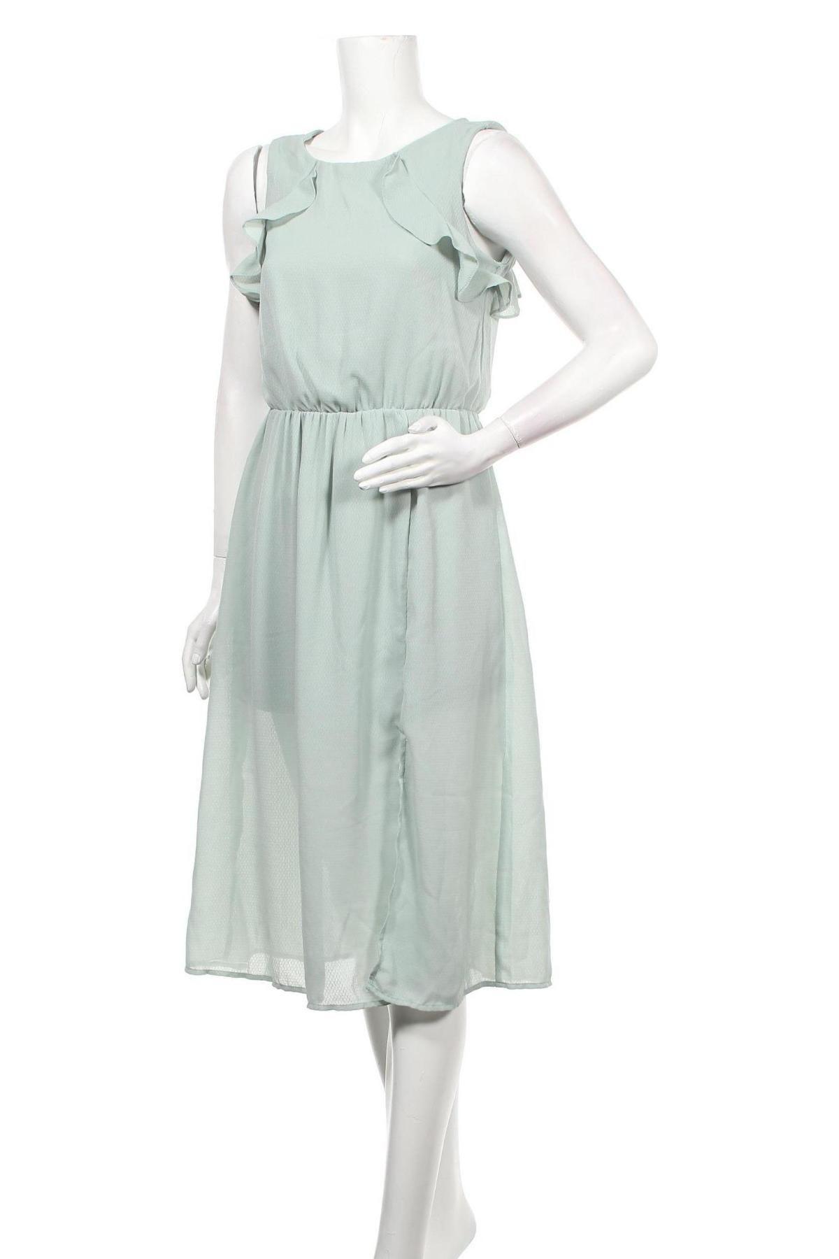 Рокля Vero Moda, Размер M, Цвят Зелен, Полиестер, Цена 57,00лв.