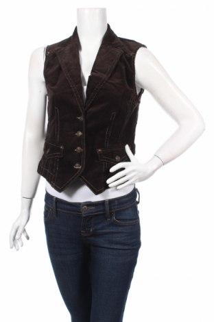Дамски елек Tom Tailor, Размер S, Цвят Кафяв, 98% памук, 2% еластан, Цена 39,00лв.