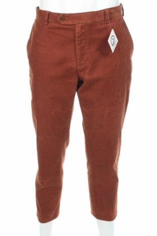 Мъжки джинси Brooks Brothers, Размер L, Цвят Кафяв, 98% памук, 2% еластан, Цена 39,00лв.