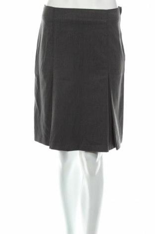 Φούστα H&M, Μέγεθος S, Χρώμα Γκρί, 68% πολυεστέρας, 29% βισκόζη, 3% ελαστάνη, Τιμή 4,69€