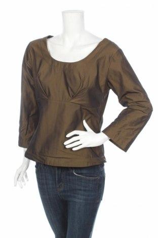 Дамска блуза Henriette Steffensen, Размер L, Цвят Кафяв, Полиестер, Цена 10,75лв.