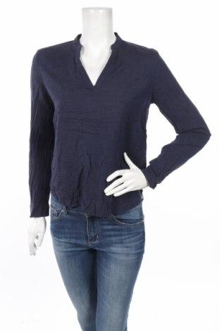 Bluză de femei Q/S by S.Oliver, Mărime M, Culoare Albastru, 73% bumbac, 27% viscoză, Preț 29,66 Lei