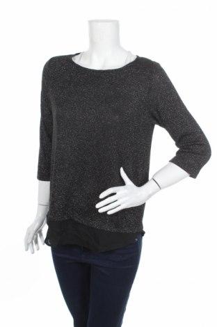 Дамска блуза S.Oliver, Размер S, Цвят Черен, 50% полиестер, 35% вискоза, 10% метални нишки, 5% еластан, Цена 13,57лв.
