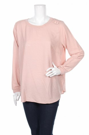Дамска блуза Tom Tailor, Размер L, Цвят Розов, 50% вискоза, 50% полиестер, Цена 11,27лв.