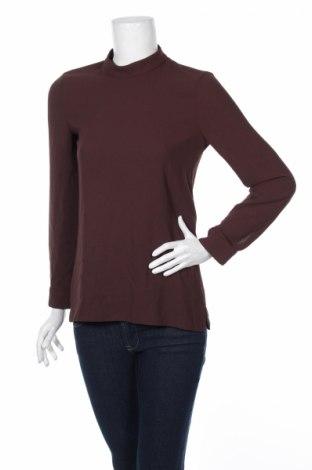 Дамска блуза Zara, Размер XS, Цвят Кафяв, Полиестер, Цена 11,04лв.