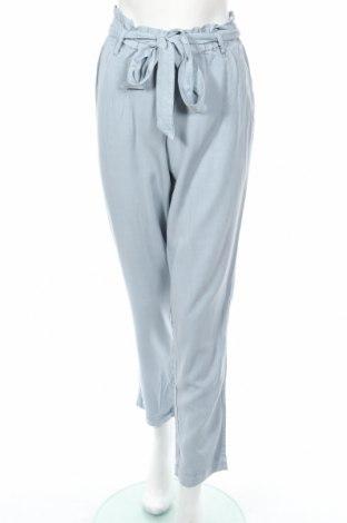 Pantaloni de femei H&M L.o.g.g, Mărime M, Culoare Albastru, 70% viscoză, 30% lyocell, Preț 33,16 Lei