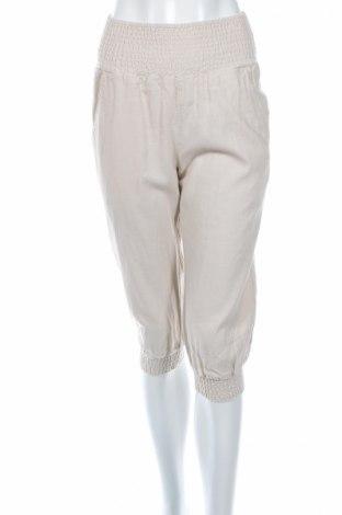 Дамски панталон Only, Размер S, Цвят Екрю, 55% вискоза, 45% лен, Цена 9,52лв.