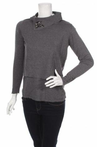 Дамски пуловер Rick Cardona, Размер M, Цвят Сив, 60% вискоза, 40% памук, Цена 13,34лв.