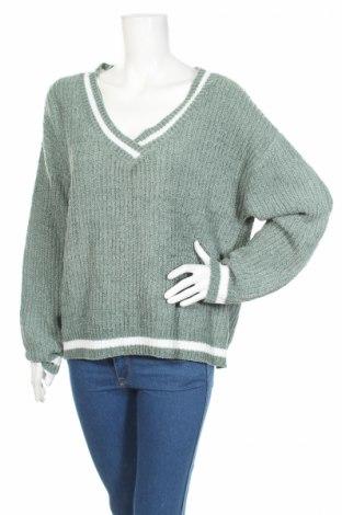 Дамски пуловер Sweater Makers, Размер M, Цвят Зелен, Цена 14,72лв.