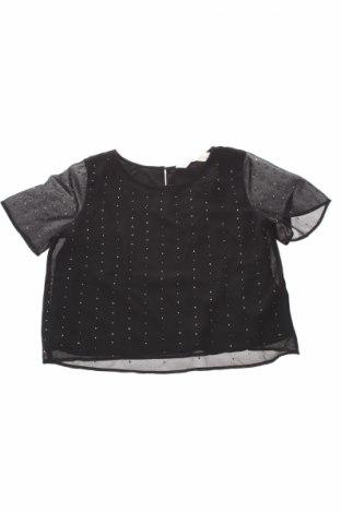 Детска блуза H&M, Размер 9-10y/ 140-146 см, Цвят Черен, Полиестер, Цена 7,15лв.