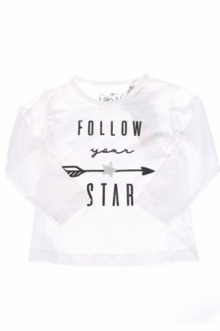 Детска блуза Losan, Размер 18-24m/ 86-98 см, Цвят Бял, 95% памук, 5% еластан, Цена 15,55лв.