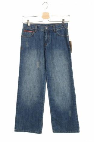 Детски дънки Bon'a Parte, Размер 10-11y/ 146-152 см, Цвят Син, 83% памук, 16% полиестер, 1% еластан, Цена 8,75лв.