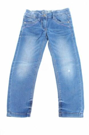 Детски дънки S.Oliver, Размер 2-3y/ 98-104 см, Цвят Син, 83% памук, 16% полиестер, 1% еластан, Цена 11,04лв.