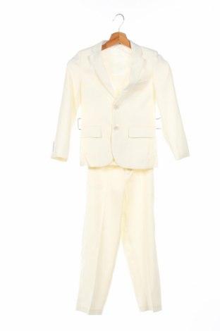 Costum de copii, Mărime 7-8y/ 128-134 cm, Culoare Ecru, 10% bumbac, 90% poliester, Preț 79,21 Lei
