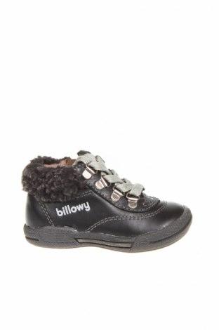 Детски обувки Billowy, Размер 19, Цвят Черен, Естествена кожа, Цена 20,47лв.