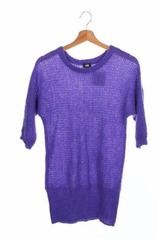 Dětský svetr  H&M, Rozměr 10-11y/ 146-152 cm, Barva Fialová, 57%acryl, 27% polyamide, 16% mohair , Cena  406,00Kč
