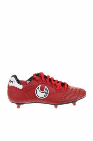 Мъжки обувки Uhlsport, Размер 41, Цвят Червен, Еко кожа, Цена 22,08лв.