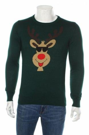 Pánsky sveter  S.Oliver, Veľkosť S, Farba Zelená, 50%acryl , 50% bavlna, Cena  35,57€