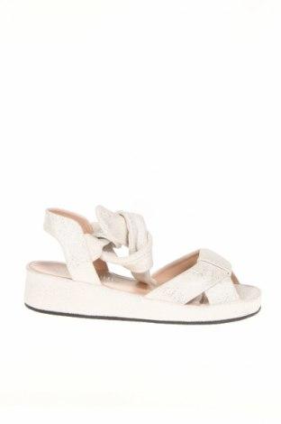 Sandały Accessoire Diffusion, Rozmiar 35, Kolor Biały, Naturalny zamsz, Cena 248,18zł