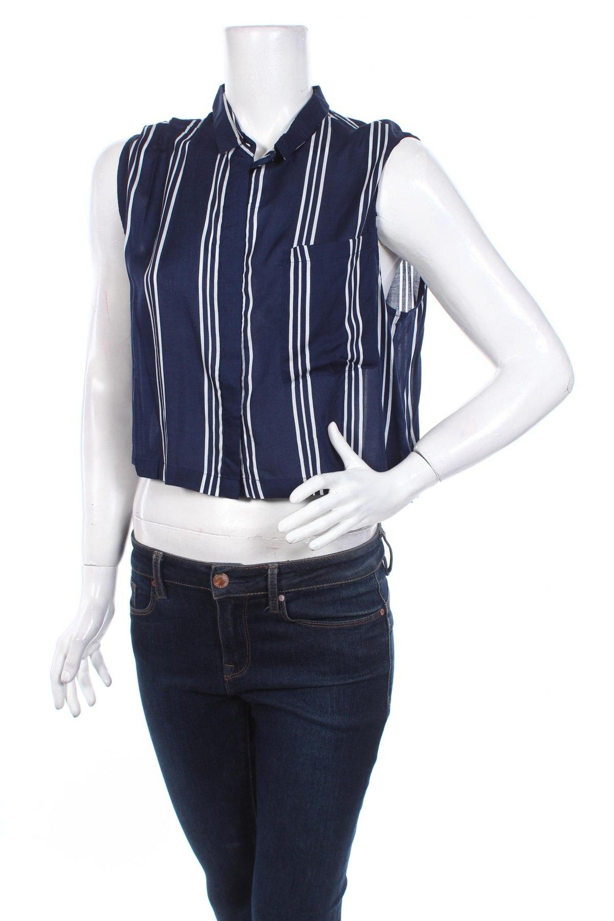 Дамска риза Tally Weijl, Размер XXS, Цвят Син, Вискоза, Цена 17,98лв.