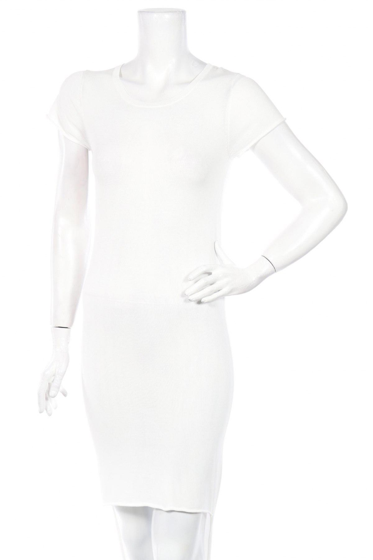 Туника Simple, Размер XXS, Цвят Бял, 80% вискоза, 20% полиамид, Цена 30,16лв.