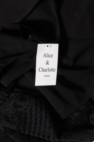 Дамска жилетка Alice & Charlotte, Размер L, Цвят Черен, 95% полиестер, 5% еластан, Цена 12,42лв.