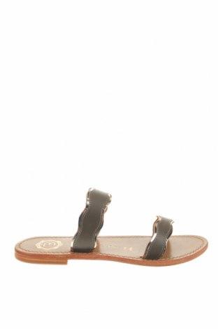 Γυναικείες παντόφλες Les Bagatelles, Μέγεθος 37, Χρώμα Γκρί, Γνήσιο δέρμα, Τιμή 18,14€