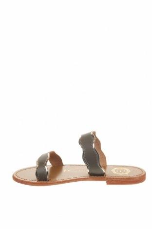Γυναικείες παντόφλες Les Bagatelles, Μέγεθος 36, Χρώμα Γκρί, Γνήσιο δέρμα, Τιμή 18,14€