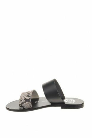 Γυναικείες παντόφλες Les Bagatelles, Μέγεθος 36, Χρώμα Μαύρο, Γνήσιο δέρμα, Τιμή 19,67€