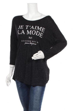 Дамска блуза Amisu, Размер XL, Цвят Черен, 95% вискоза, 5% полиестер, Цена 10,58лв.