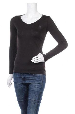Дамска блуза G-Star Raw, Размер XS, Цвят Черен, 60% памук, 40% полиестер, Цена 31,15лв.