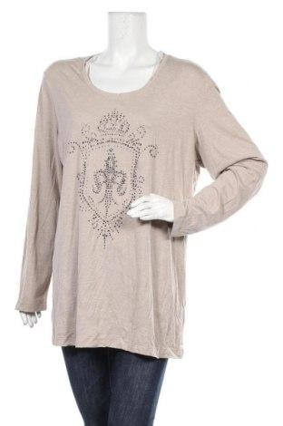 Γυναικεία μπλούζα G.W., Μέγεθος XL, Χρώμα  Μπέζ, 50% βισκόζη, 50% πολυεστέρας, Τιμή 25,92€