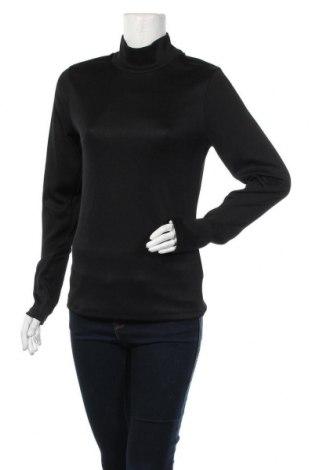 Дамска блуза H&M, Размер L, Цвят Черен, 96% полиестер, 4% еластан, Цена 10,58лв.