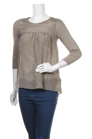 Γυναικεία μπλούζα Hallhuber, Μέγεθος XS, Χρώμα Γκρί, Μετάξι, Τιμή 35,24€